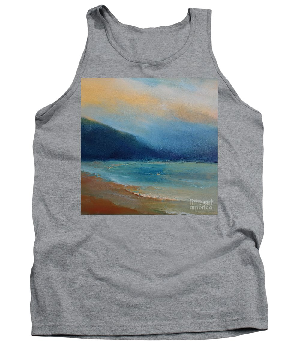 Landscape Tank Top featuring the painting Dusk 09 by Pusita Gibbs