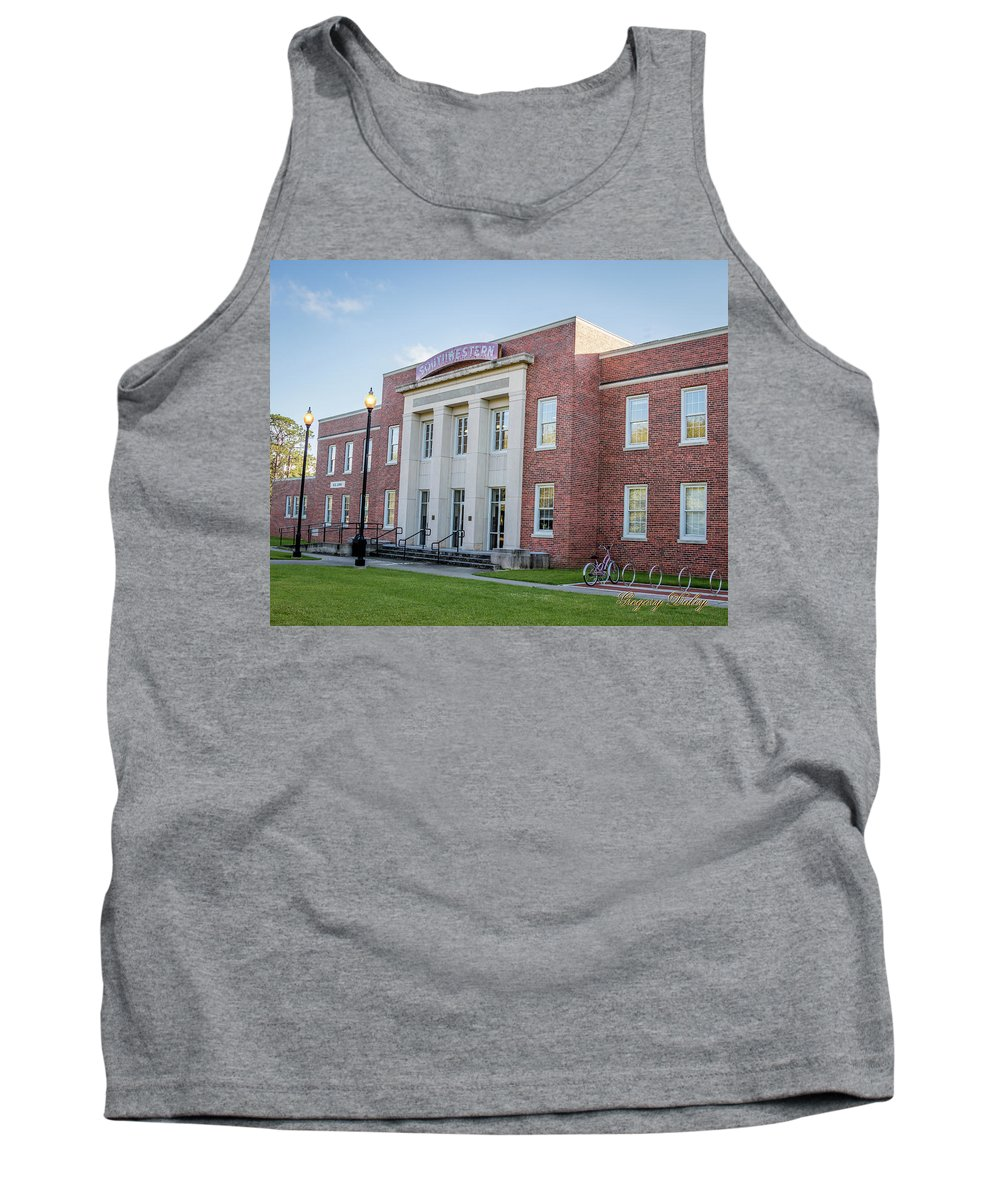 Ul Tank Top featuring the photograph E K Long Building by Gregory Daley MPSA
