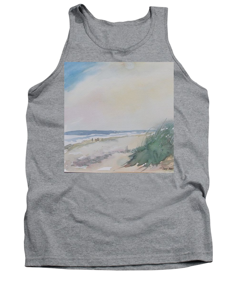 Seascape Tank Top featuring the painting Early Birds by Mickey Bissell