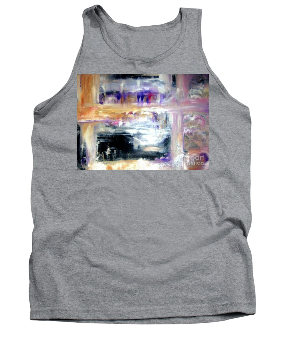 Glow Tank Top featuring the painting Earthen Vessel by Sandy Ryan
