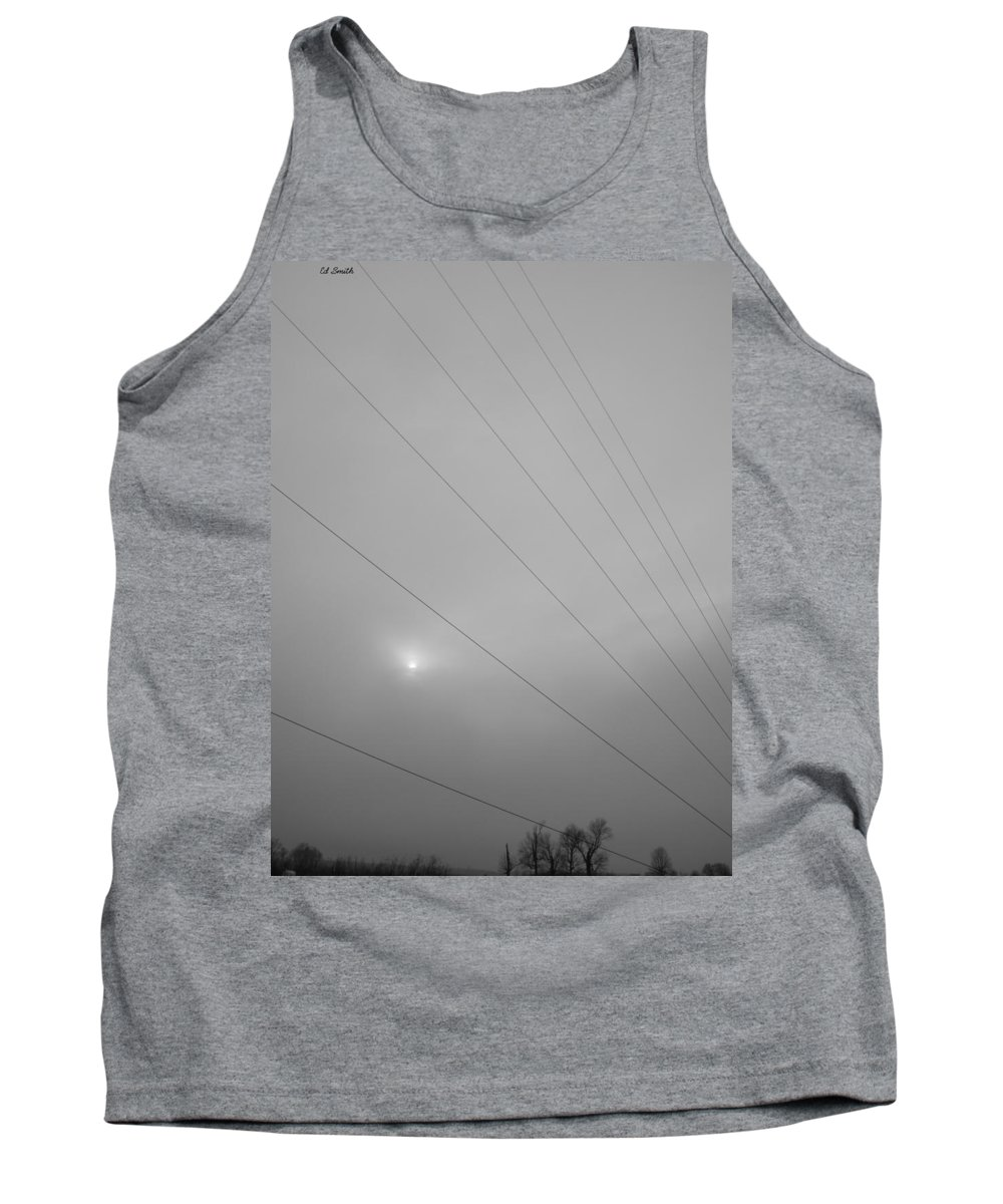 Earths Guy Wires Tank Top featuring the photograph Earths Guy Wires by Edward Smith