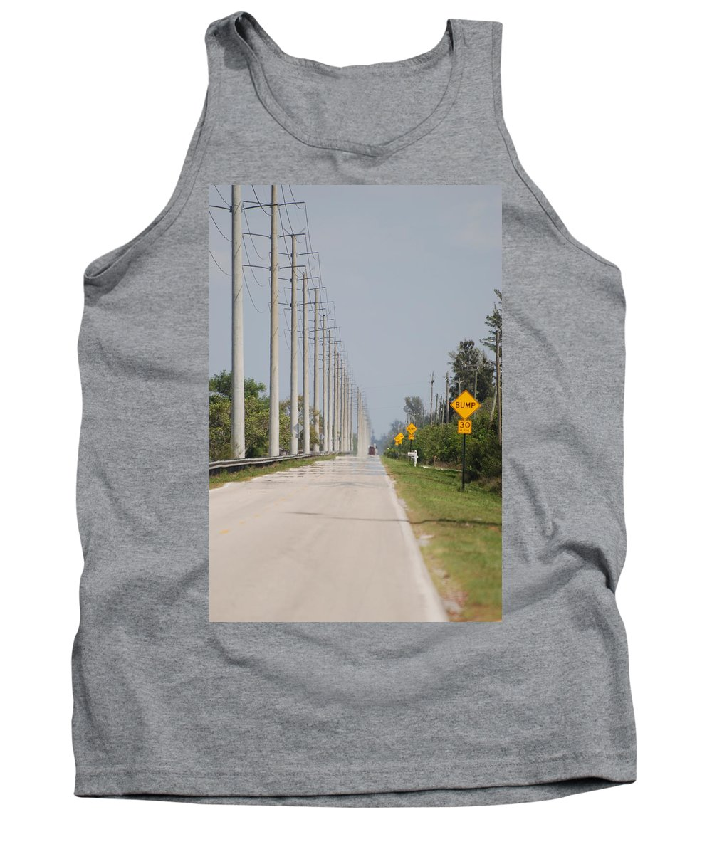Trees Tank Top featuring the photograph East Bound And Down by Rob Hans