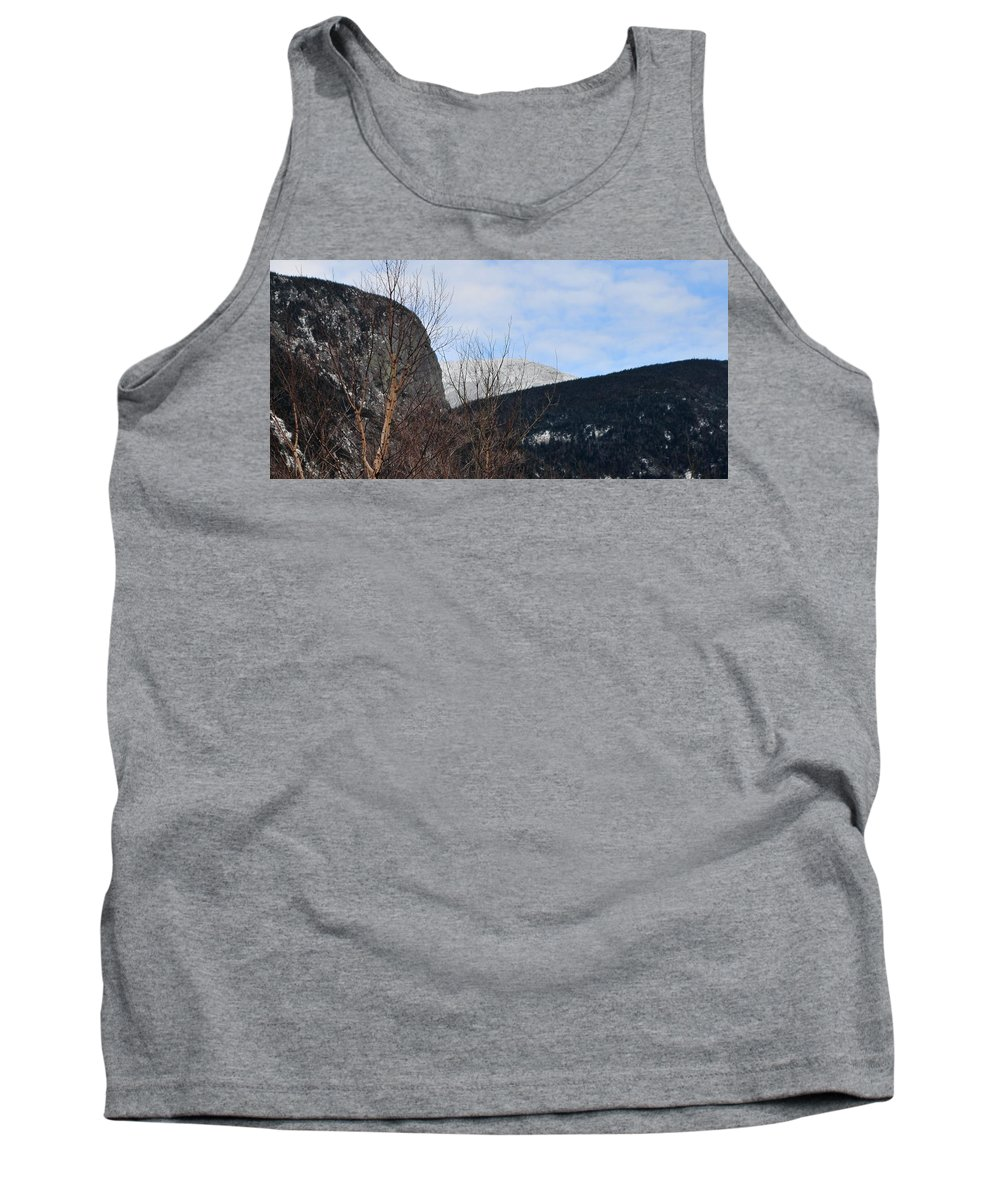 Back Roads Of New Hampshire January 28 Tank Top featuring the photograph East From Cannon Mountain by Bill Driscoll