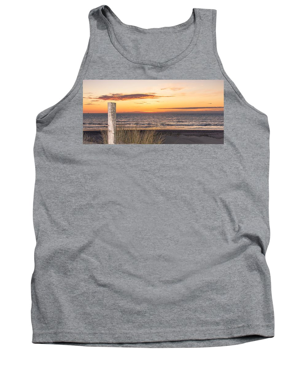 Sunset Tank Top featuring the photograph Easter Beach Light by Alex Hiemstra