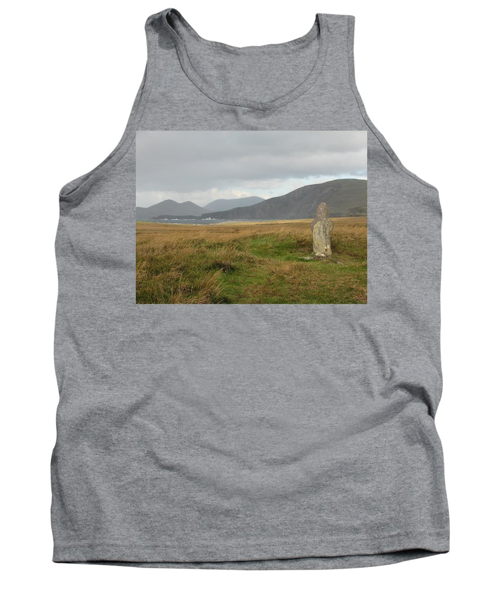 Medievil Tank Top featuring the photograph Edge Of The World by Kelly Mezzapelle