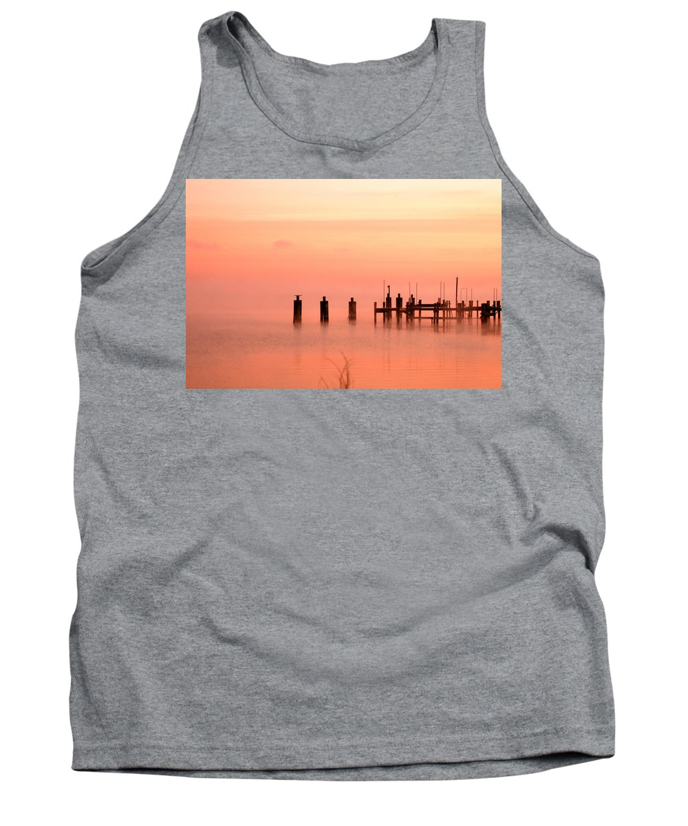 Clay Tank Top featuring the photograph Eery Morn by Clayton Bruster
