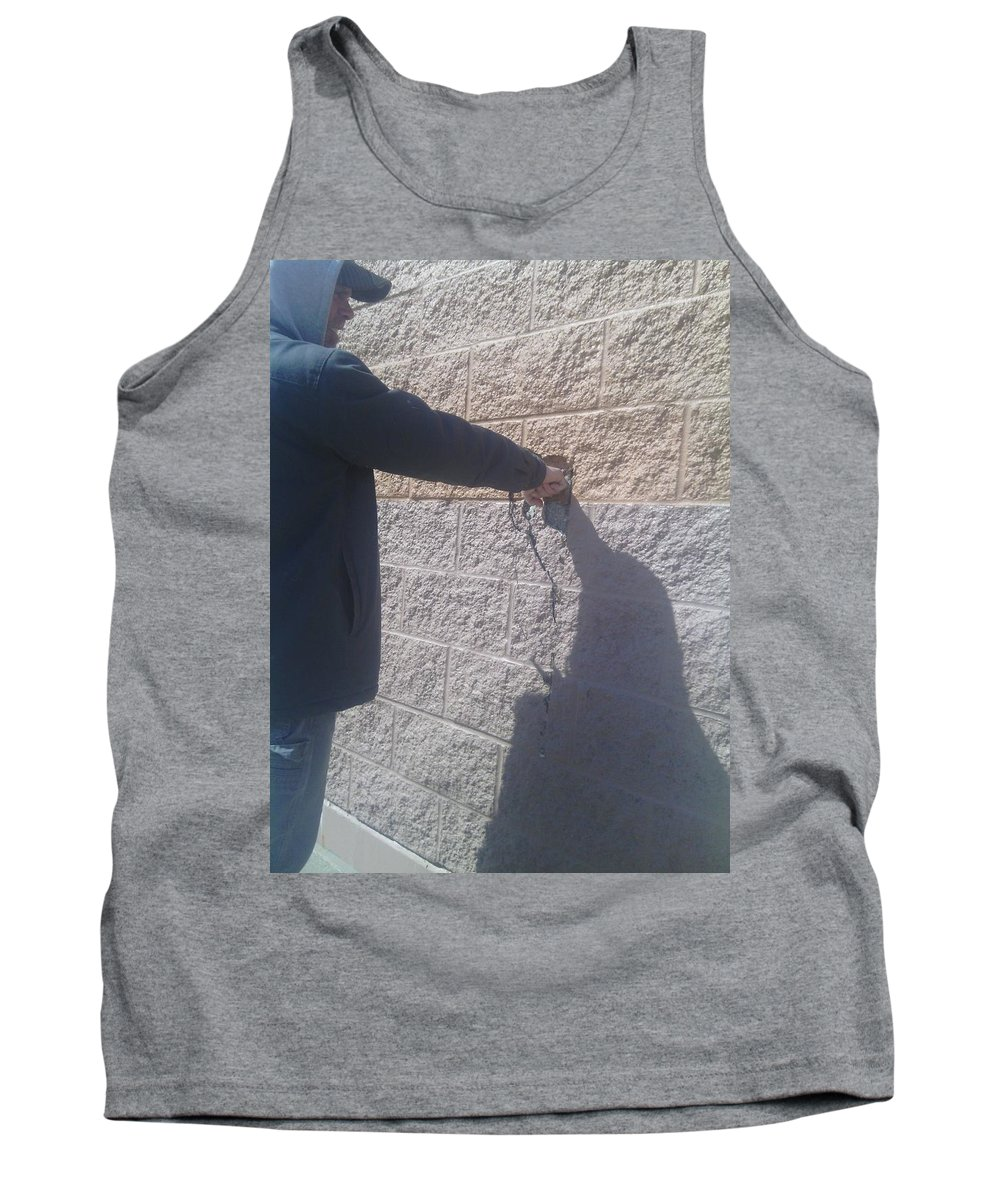 Brick Tank Top featuring the photograph ego by Robert Usher