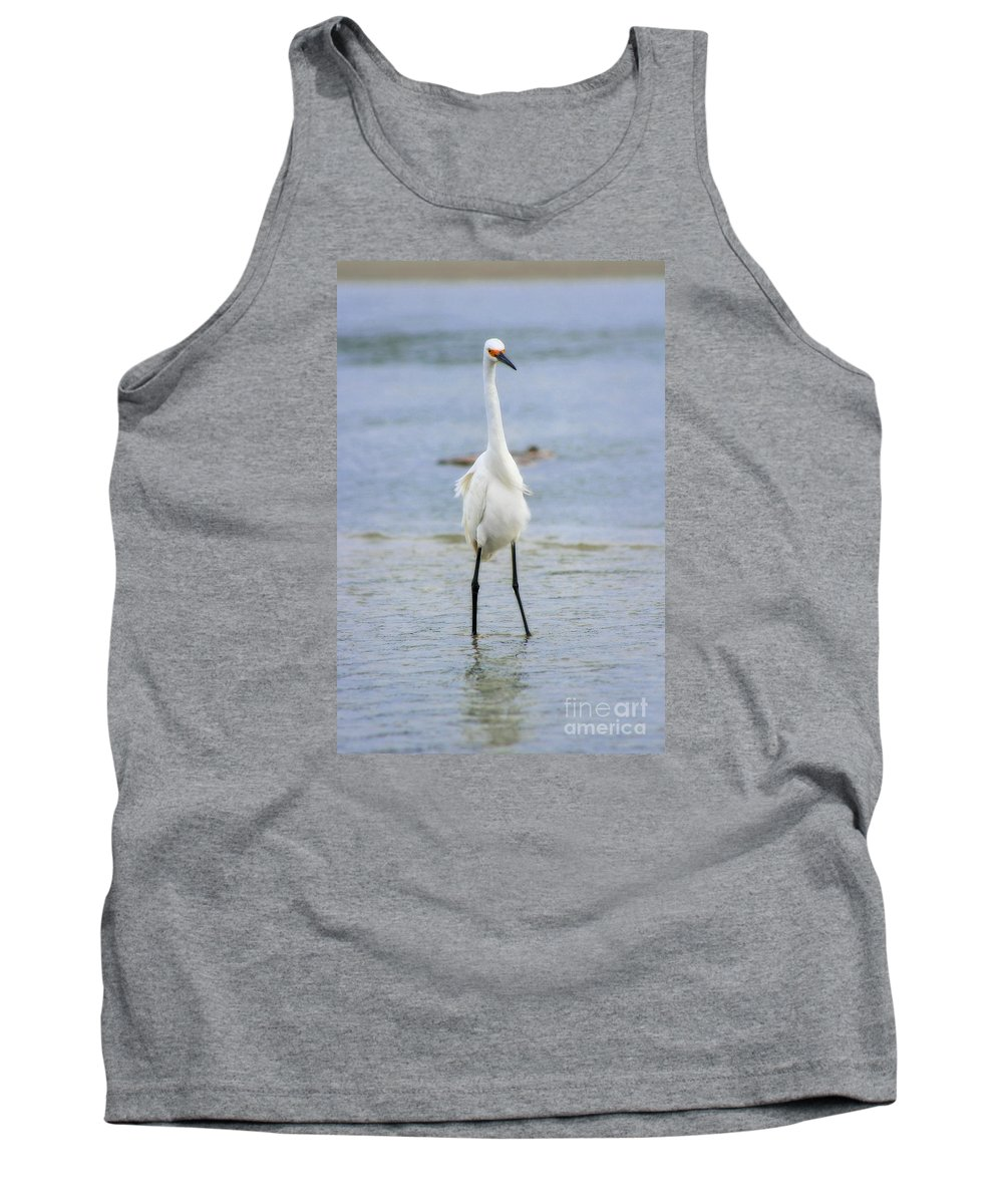 Tank Top featuring the photograph Egret by Angela Rath