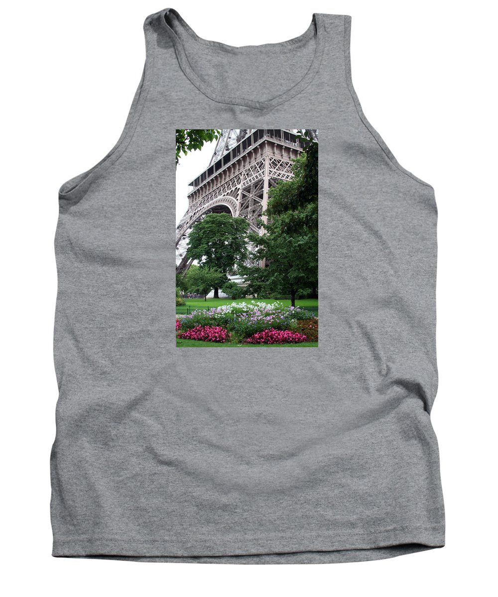 Eiffel Tank Top featuring the photograph Eiffel Tower Garden by Margie Wildblood