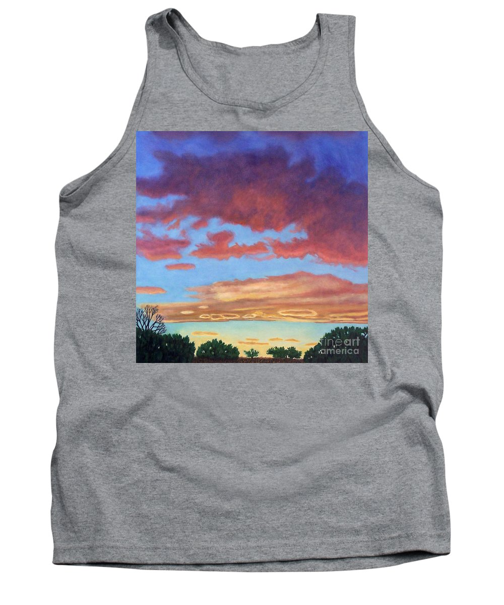 Sunset Tank Top featuring the painting El Dorado Sunset by Brian Commerford