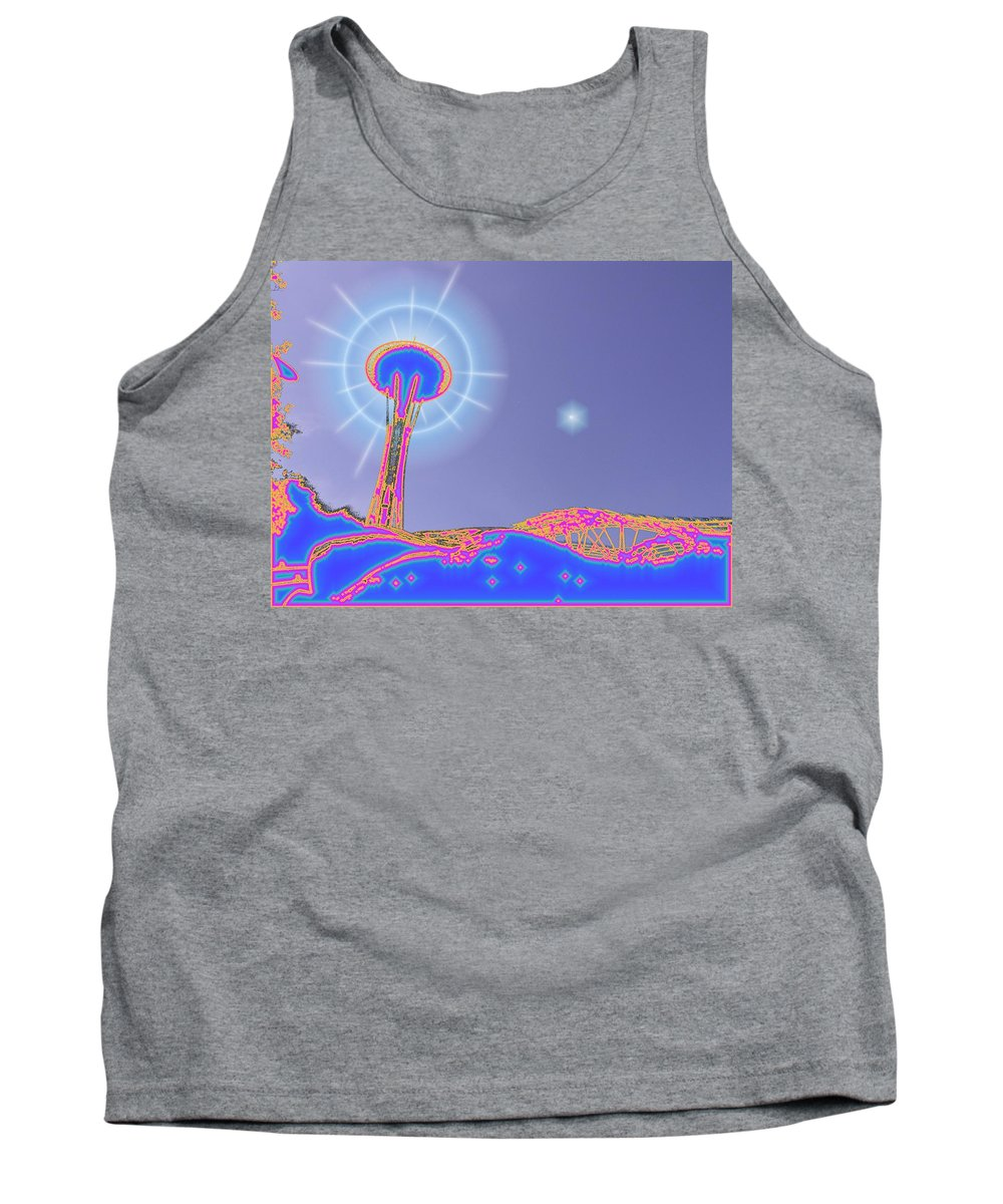 Seattle Tank Top featuring the photograph Electric Needle by Tim Allen
