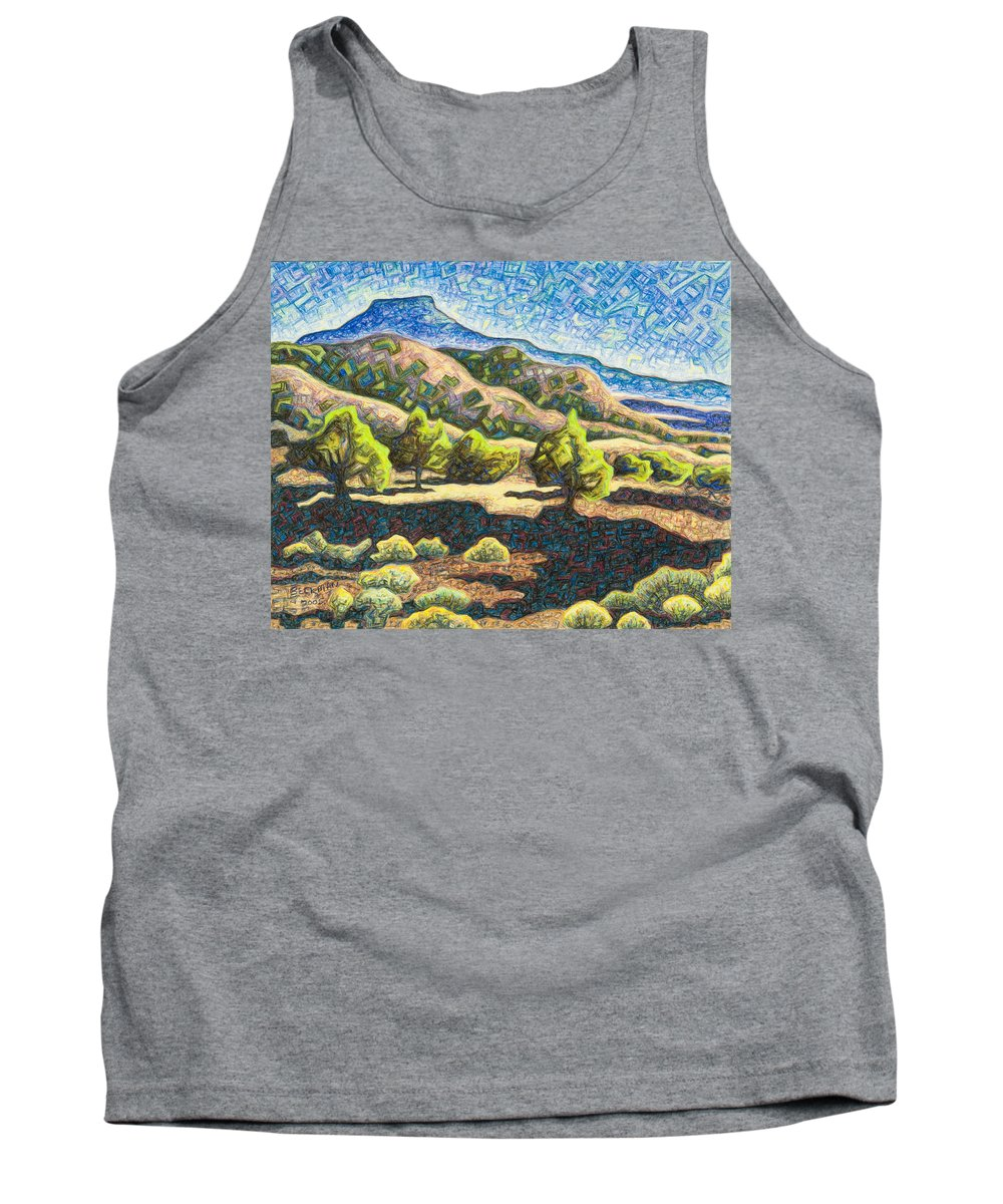 Electromagnetic Observation #3 Tank Top featuring the pastel Electromagnetic Observation #3 by Dale Beckman
