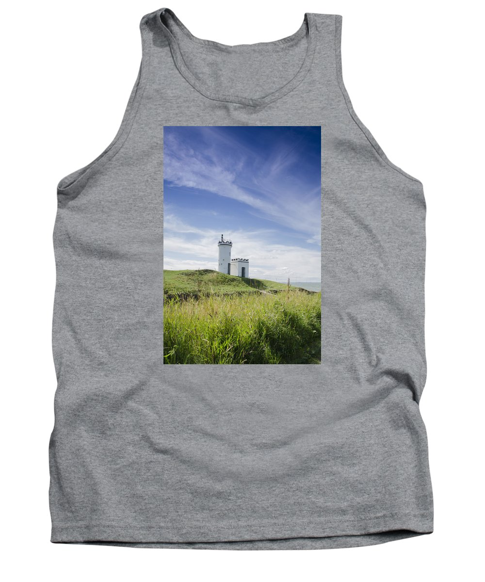 Lighthouse Tank Top featuring the photograph Elie Lighthouse by Scott Jessiman