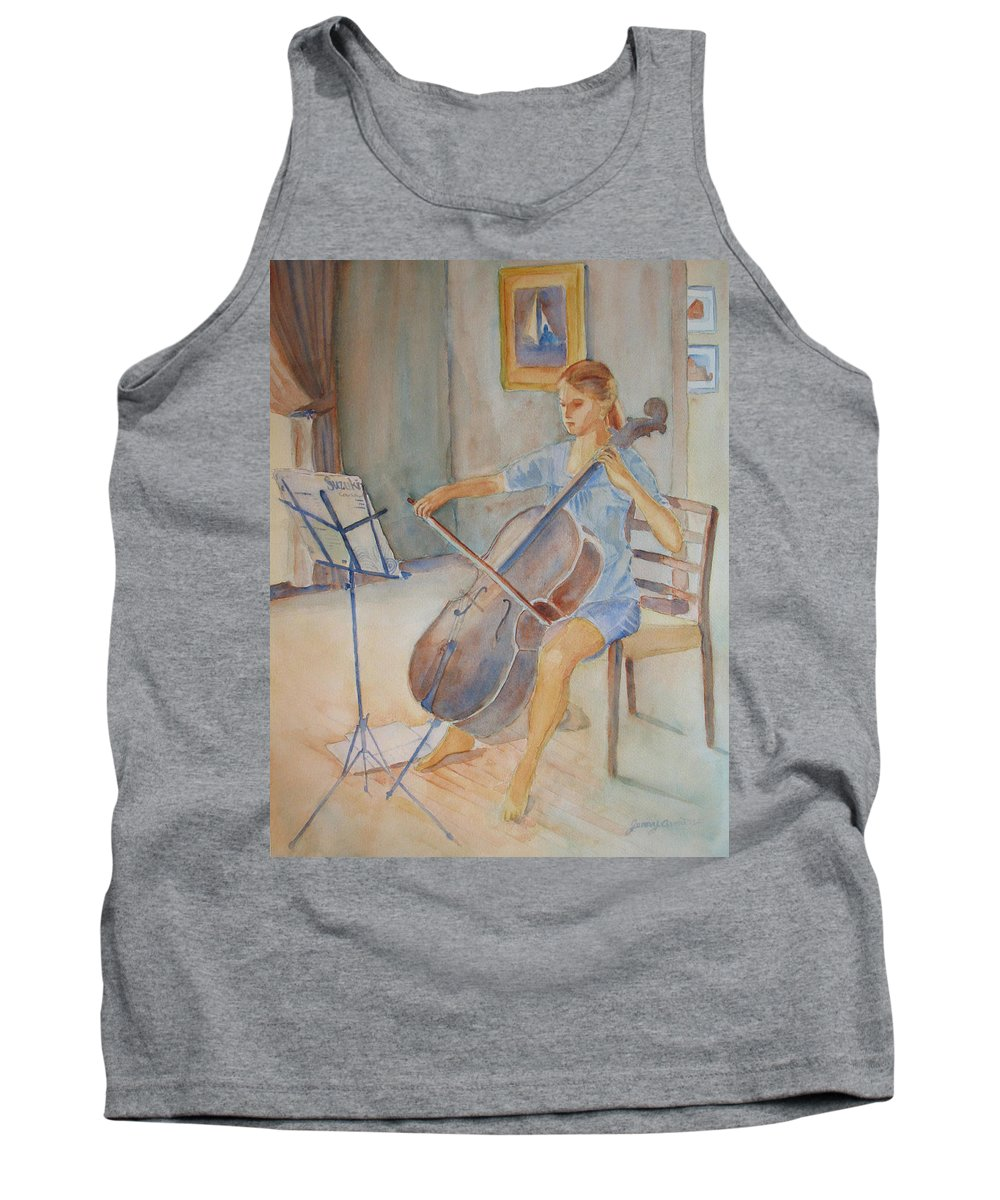 Girls Tank Top featuring the painting Emma And Clifford by Jenny Armitage