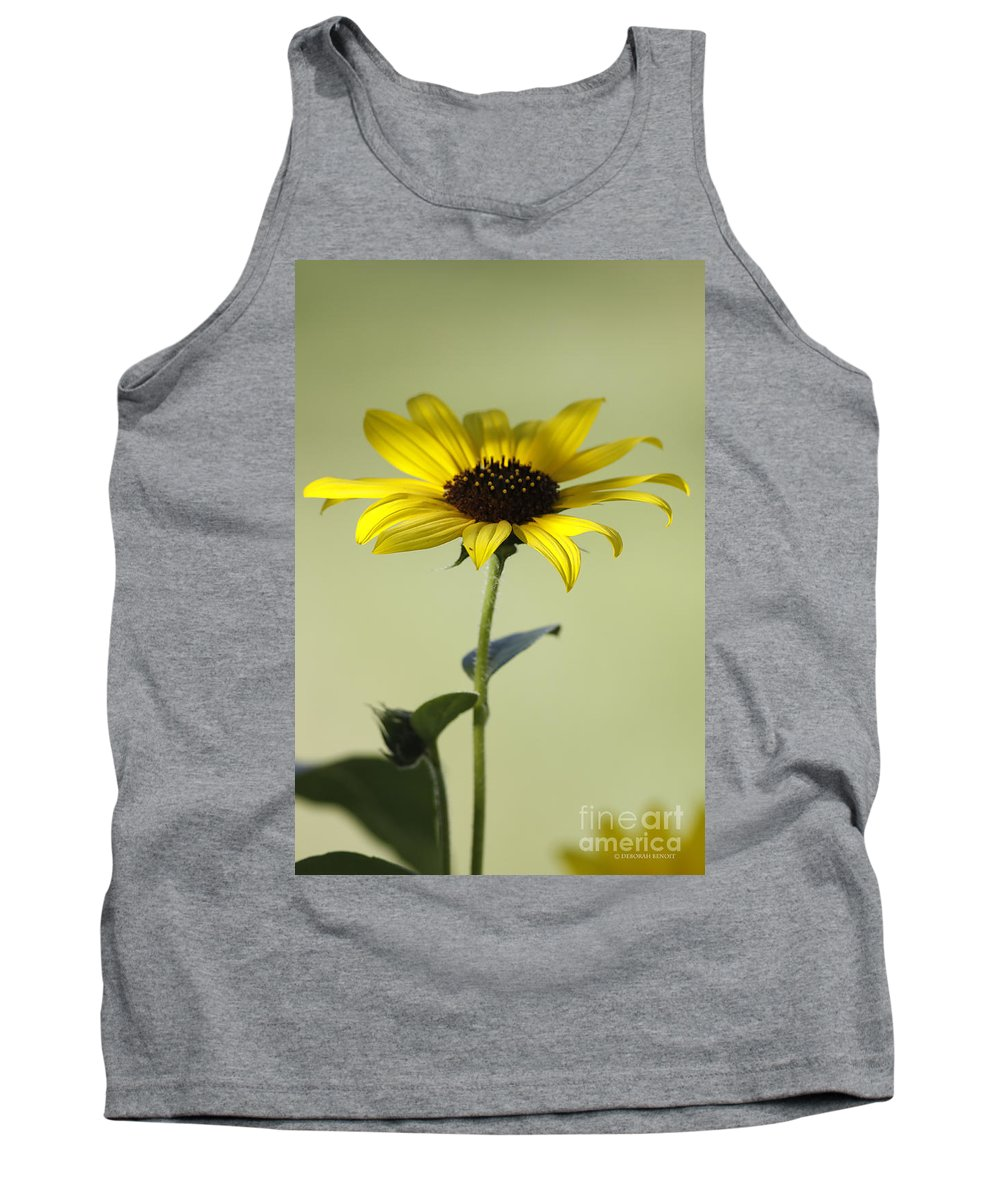 Sunflower Tank Top featuring the photograph End Of The Season by Deborah Benoit