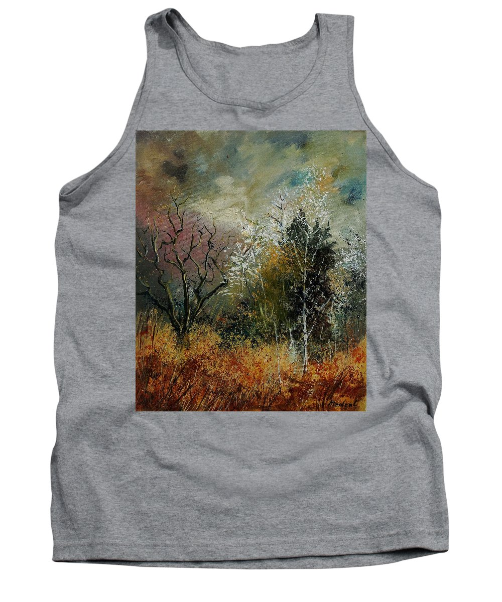 River Tank Top featuring the painting End Of Winter by Pol Ledent