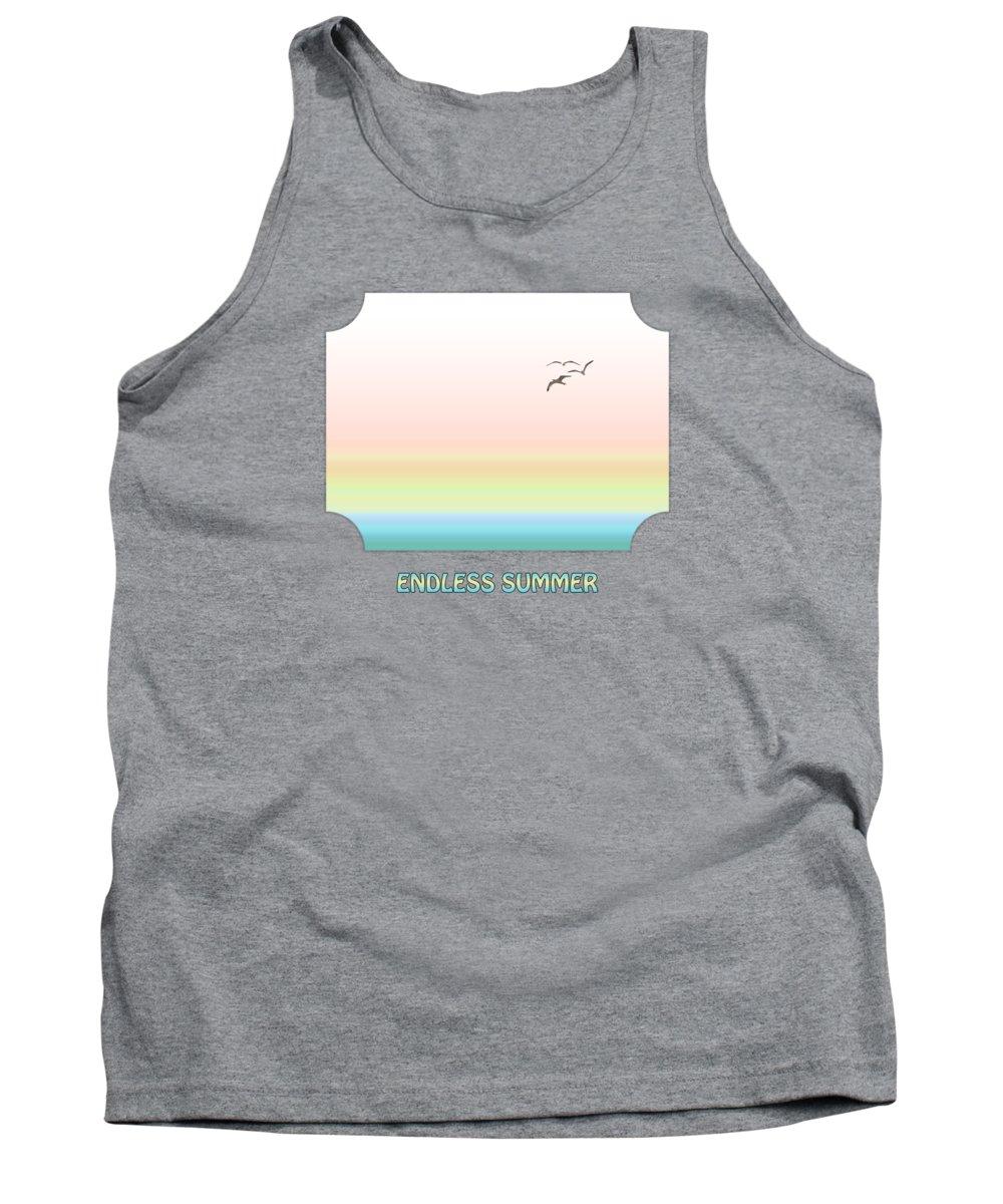 Ocean Tank Top featuring the photograph Endless Summer - Pink by Gill Billington