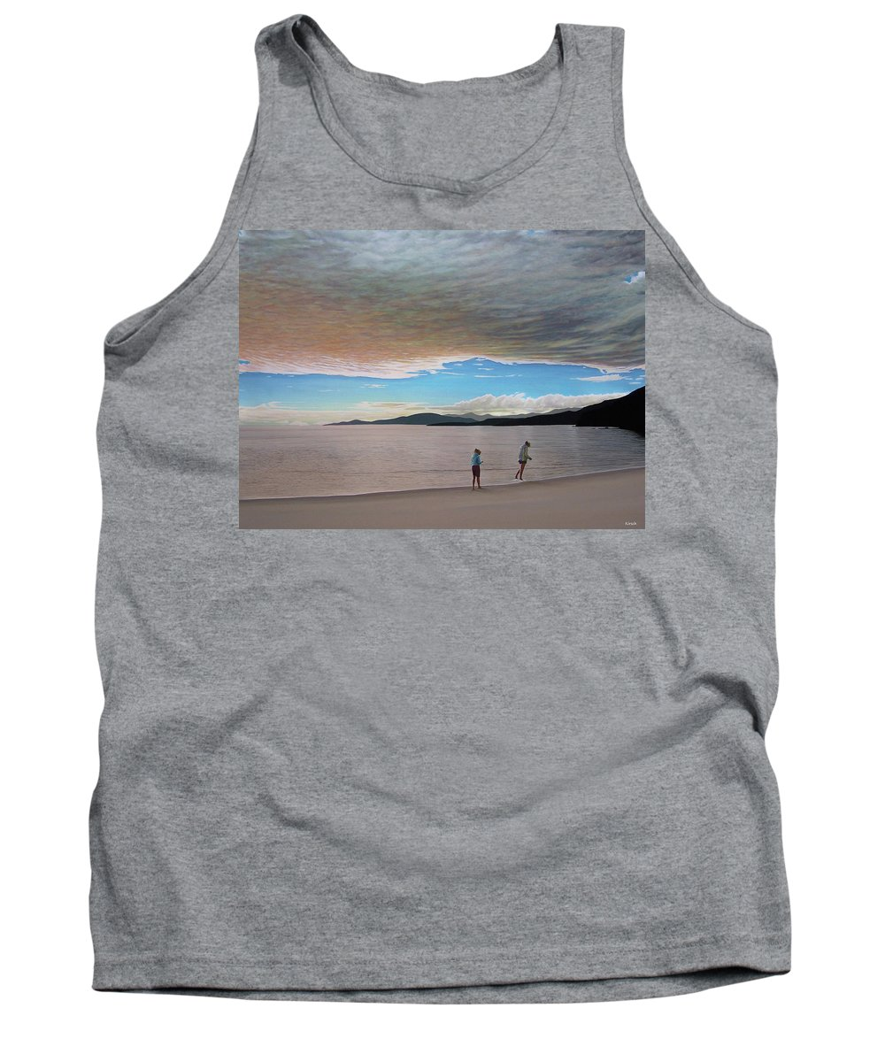 Landscapes Tank Top featuring the painting English Bay Vancouver by Kenneth M Kirsch