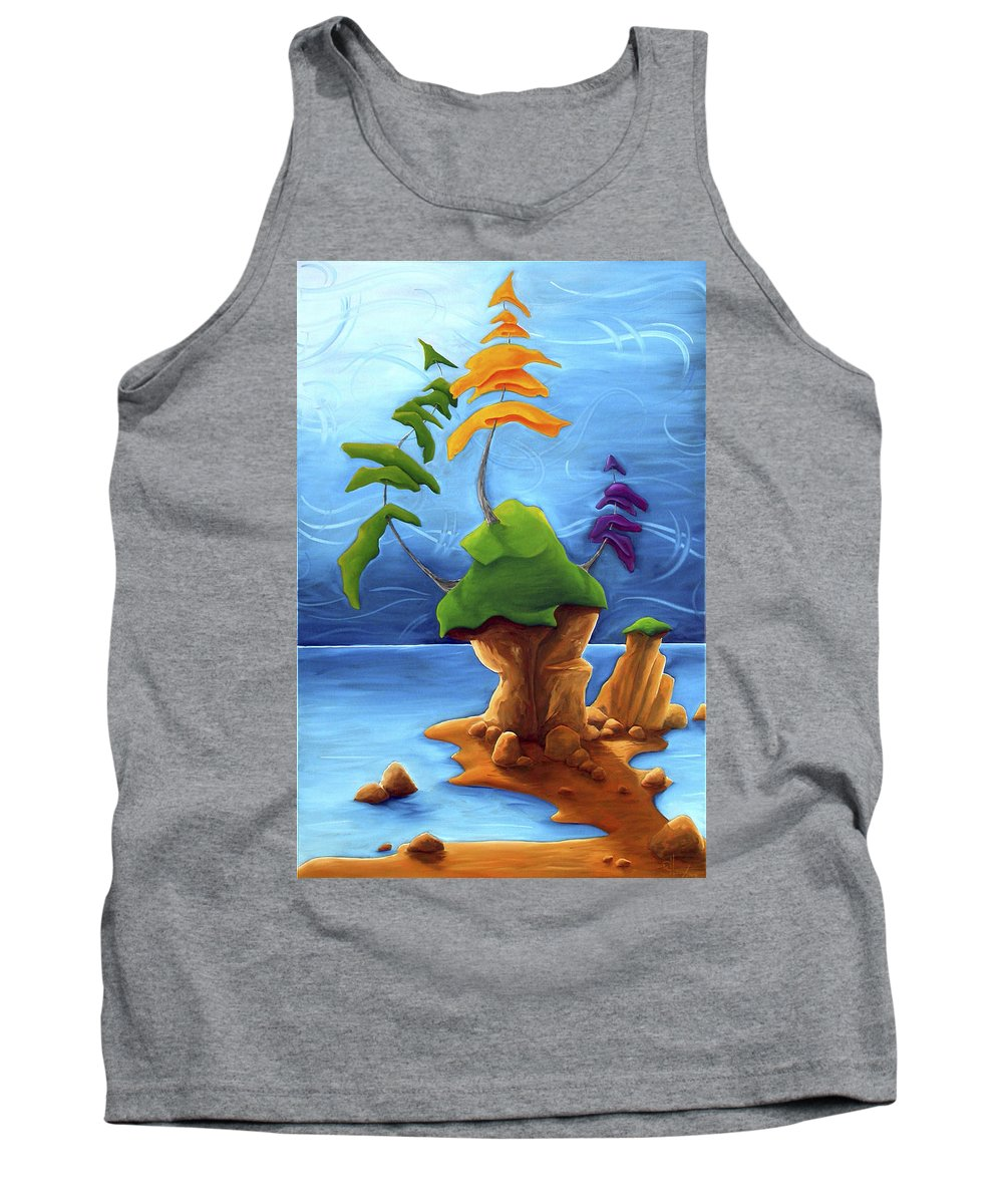 Landscape Tank Top featuring the painting Enraptured by Richard Hoedl