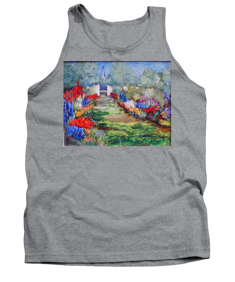 Landscape Tank Top featuring the painting Enter His Gates by Gail Kirtz