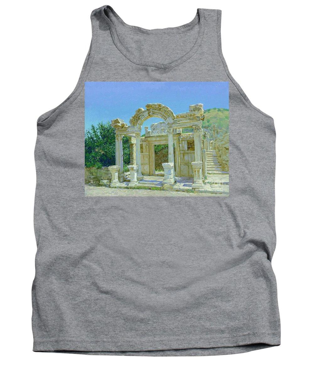 Ephesus Tank Top featuring the painting Ephesus.ruins by Simon Kozhin