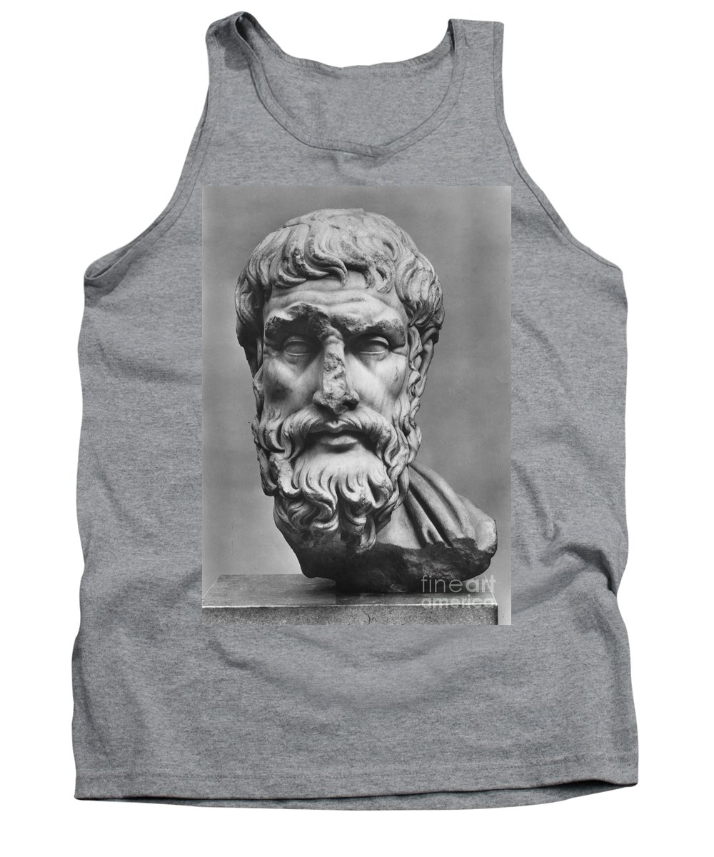 3rd Century B.c Tank Top featuring the photograph Epicurus (342?-270 B.c.) by Granger