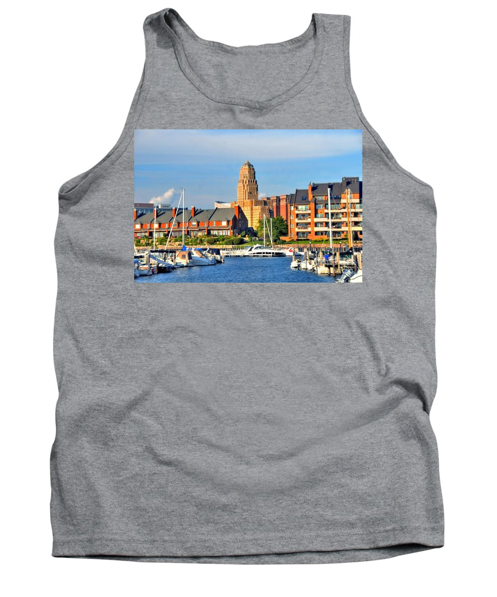 Marina Tank Top featuring the photograph Erie Basin Marina by Kathleen Struckle