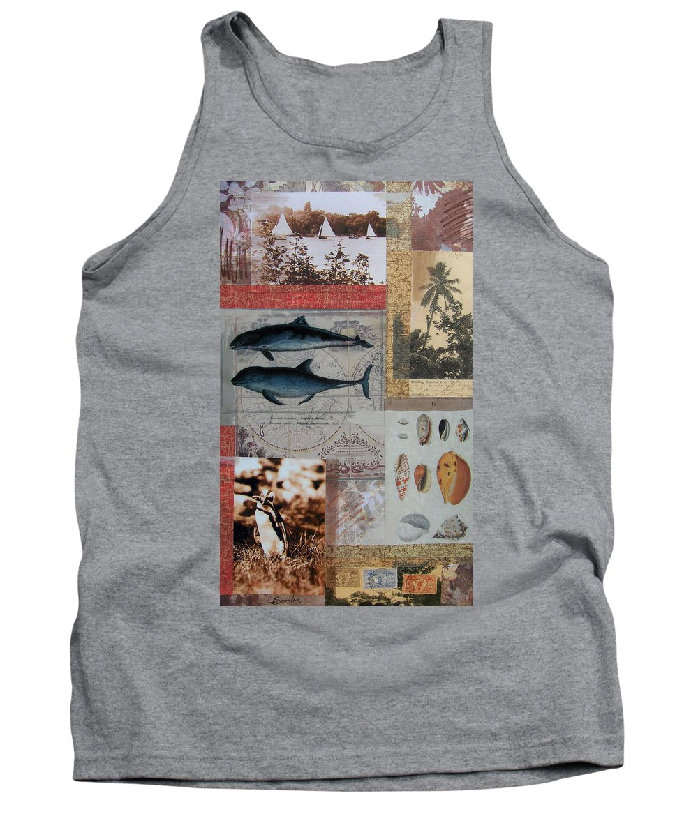 Travel Tank Top featuring the mixed media Escape And Explore Iv by Leigh Banks