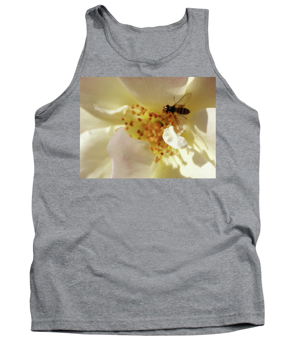 Flower Tank Top featuring the photograph Essence by Linda Shafer