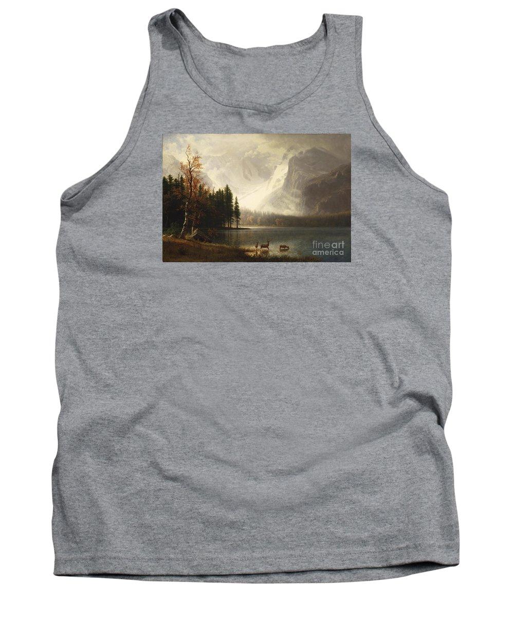 Albert Bierstadt - Estes Park Tank Top featuring the painting Estes Park by Celestial Images
