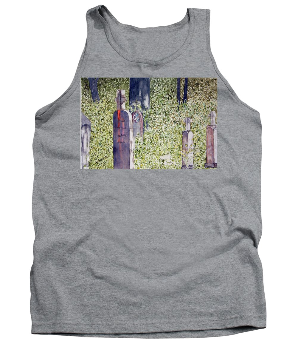 Cemeteries Tank Top featuring the painting Eternity In Hoonah by Larry Wright
