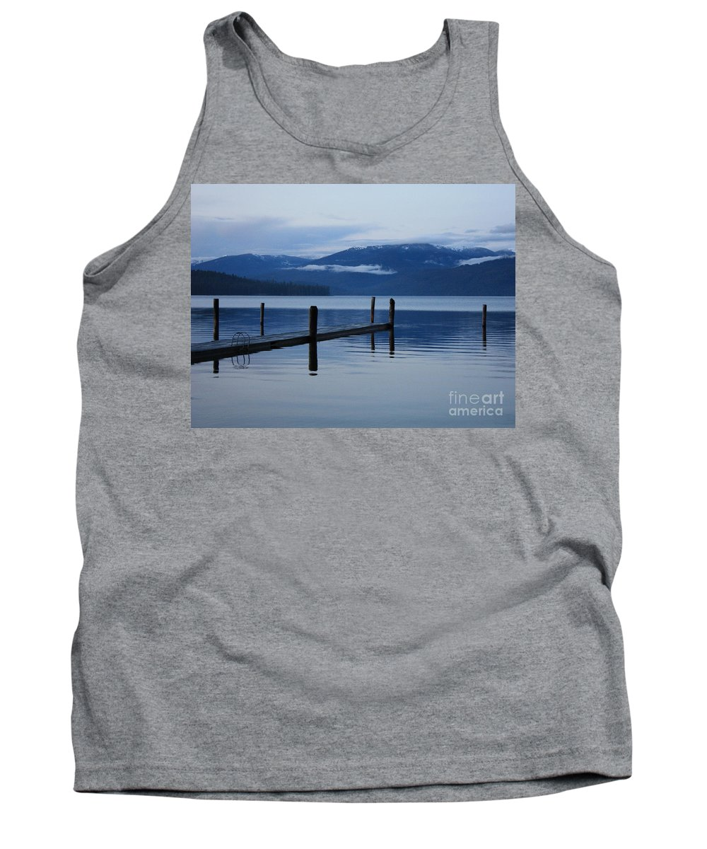 Priest Lake Tank Top featuring the photograph Tranquil Blue Priest Lake by Carol Groenen