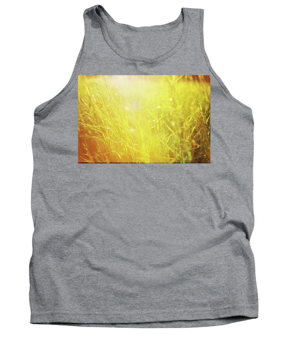 Sun Tank Top featuring the photograph Evening Field by Megan Swormstedt