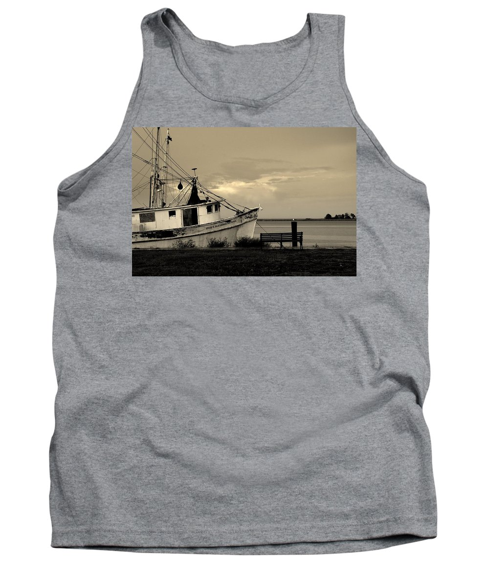 Harbor Tank Top featuring the photograph Evening In The Harbor by Susanne Van Hulst