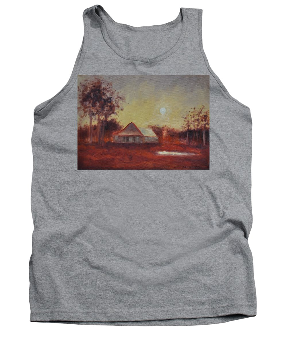 Sunsets Tank Top featuring the painting Evening Light by Ginger Concepcion