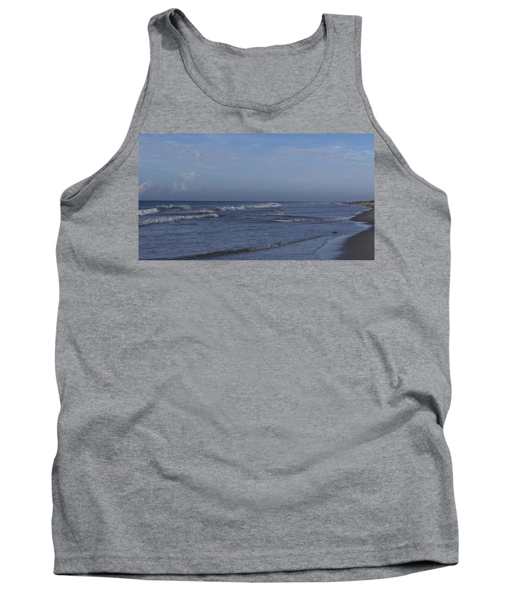 Ocean Tank Top featuring the photograph Evening On The Beach by Teresa Mucha