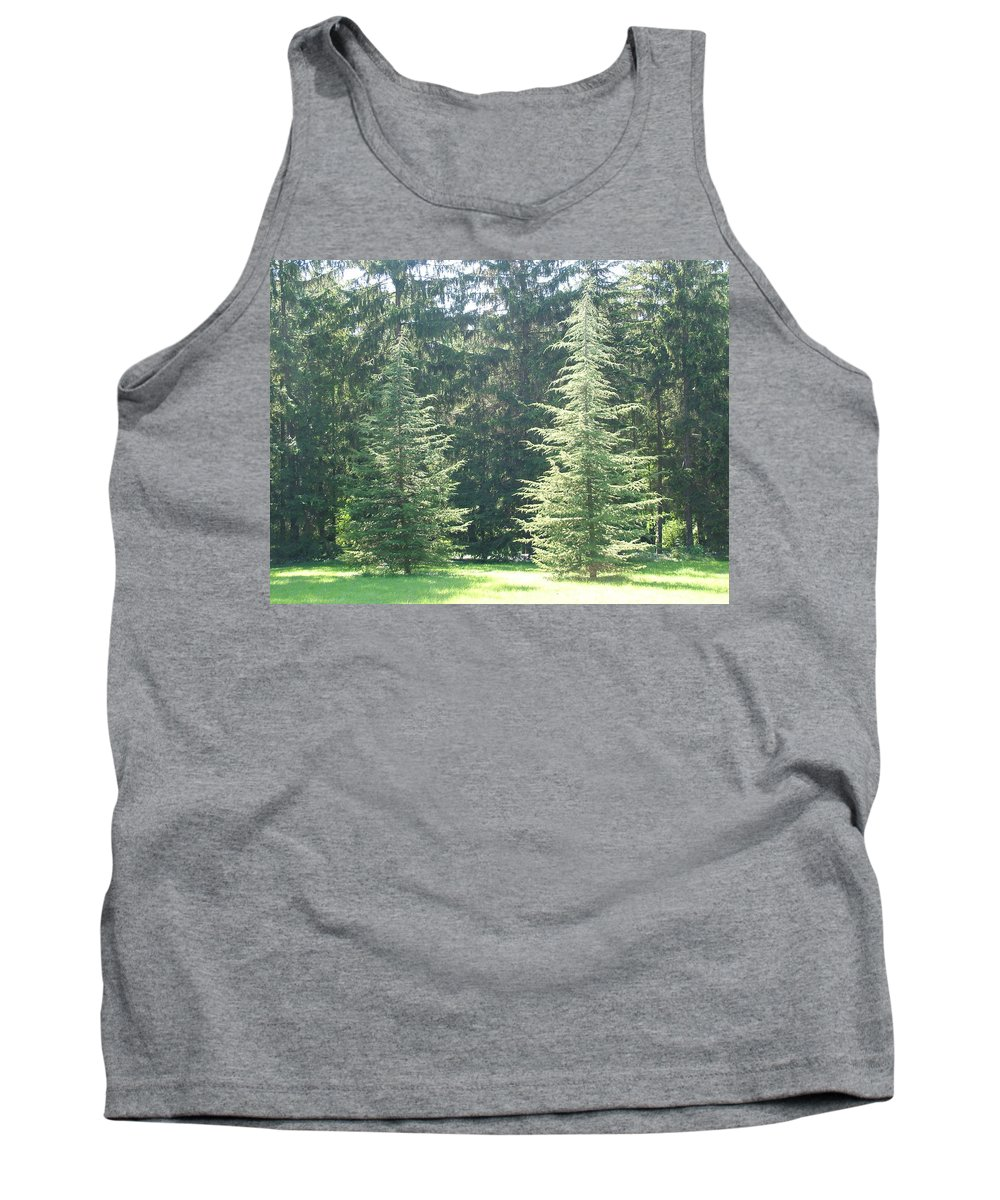 Dance Tank Top featuring the photograph Evergreen Dance by Peter Antos