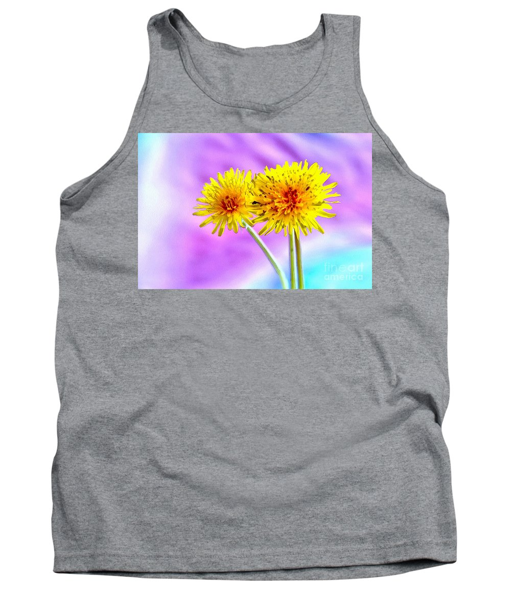 Dandelion Tank Top featuring the photograph Everlasting Happiness by Krissy Katsimbras