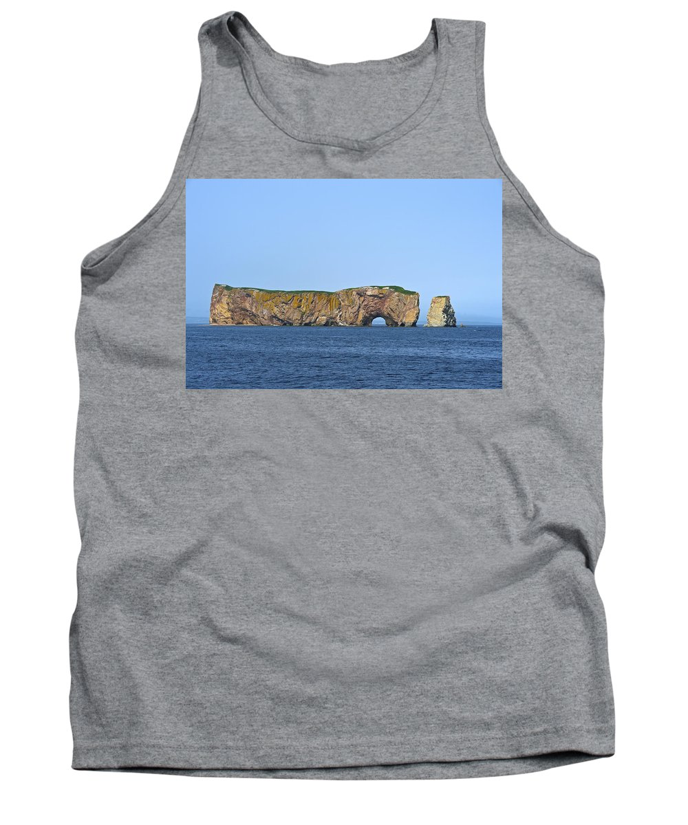 Perc� Rock Tank Top featuring the photograph Exclamation by Tony Beck