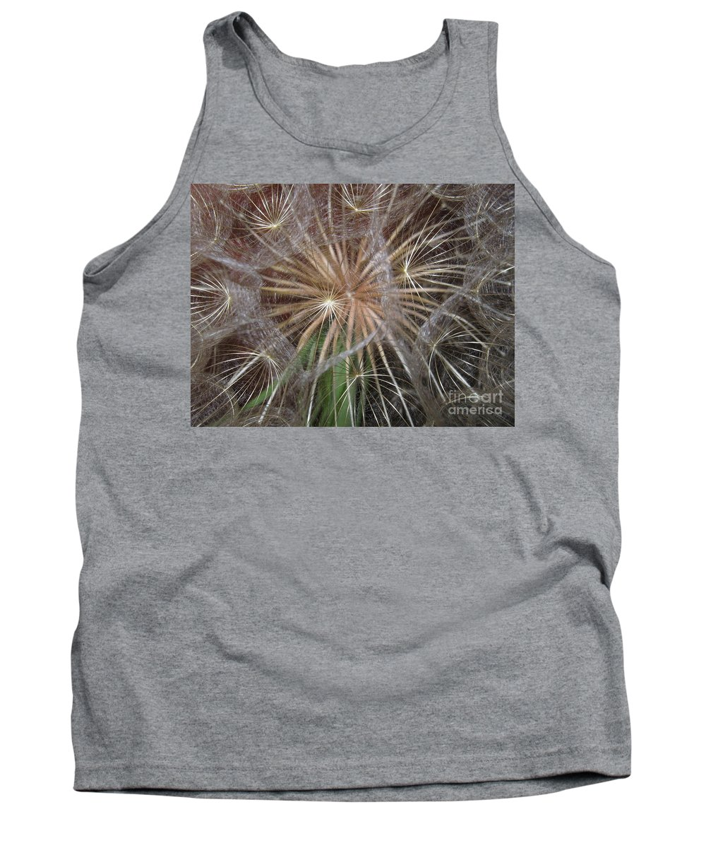 Dandelion Tank Top featuring the photograph Experience The Dandelion by Marie Neder