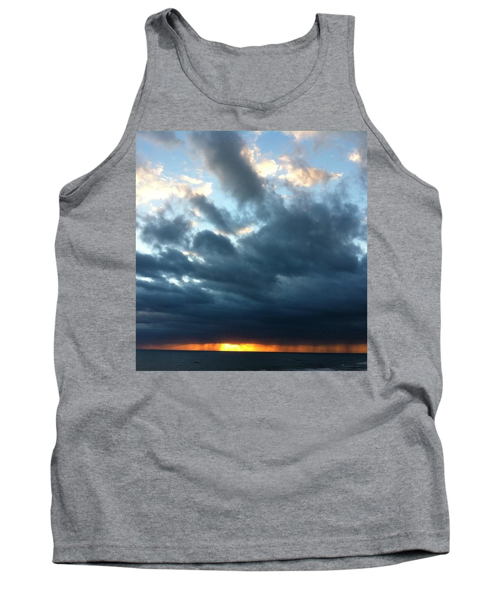 Sunrise Tank Top featuring the photograph Extinguished Sun by James Benderson