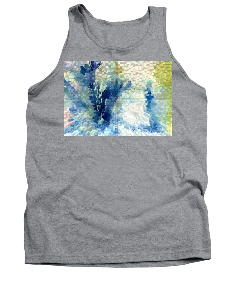 Abstract Tank Top featuring the painting Extrude by Steve Karol