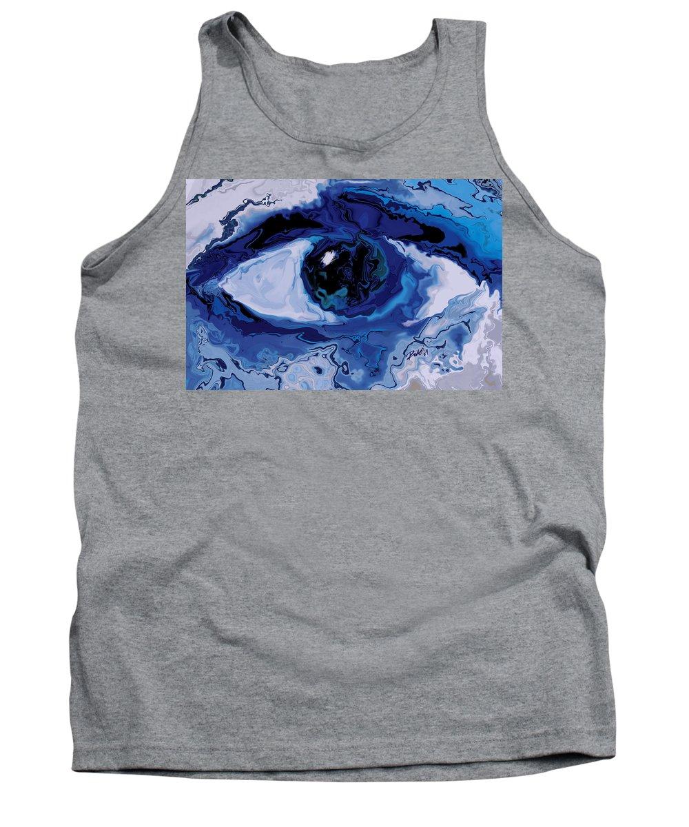 Eye Tank Top featuring the digital art Eye by Rabi Khan