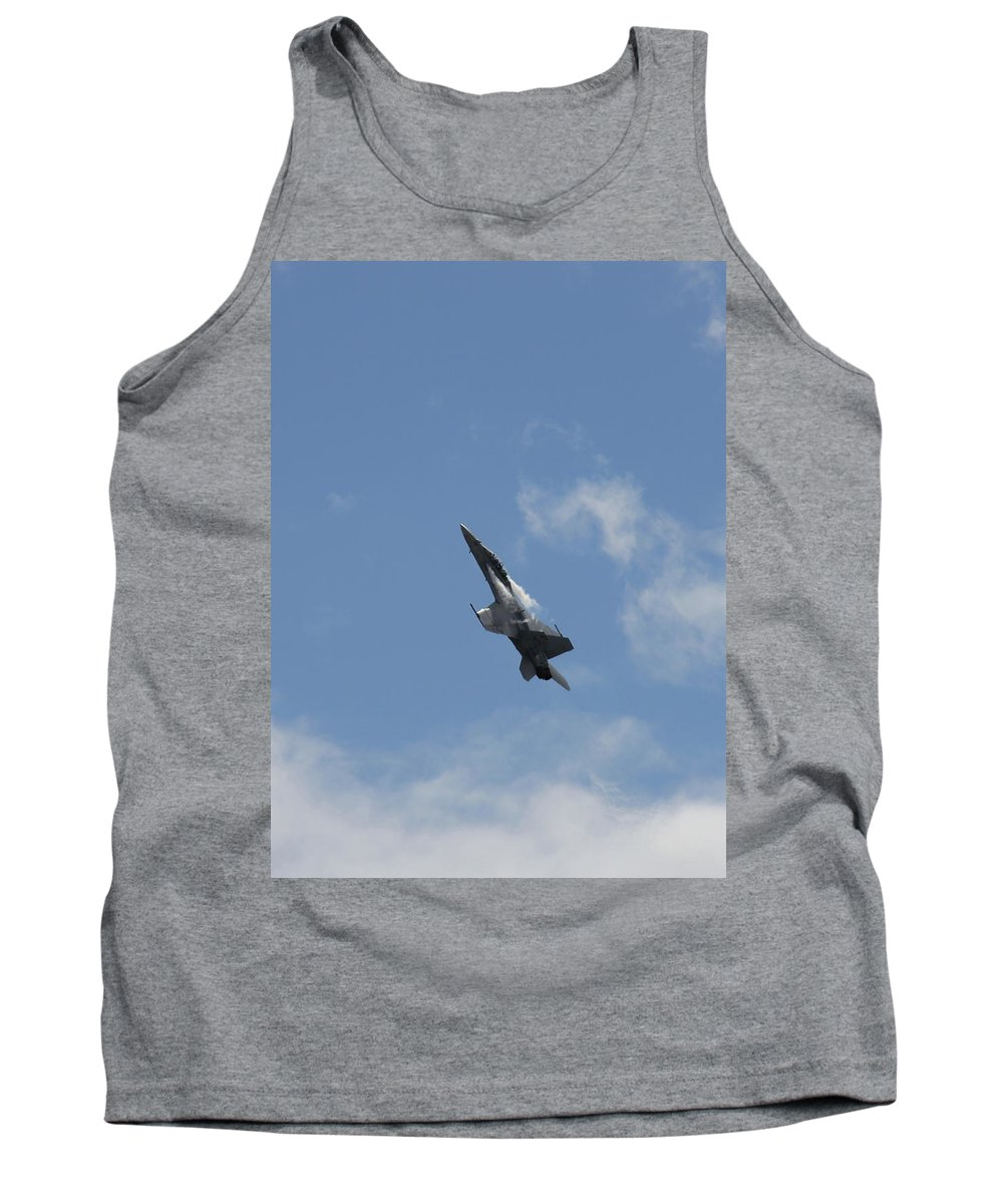Mcdonnell Douglas F/a-18 Hornet Tank Top featuring the photograph F/a-18 Fighter Fast Climb by Aaron Berg