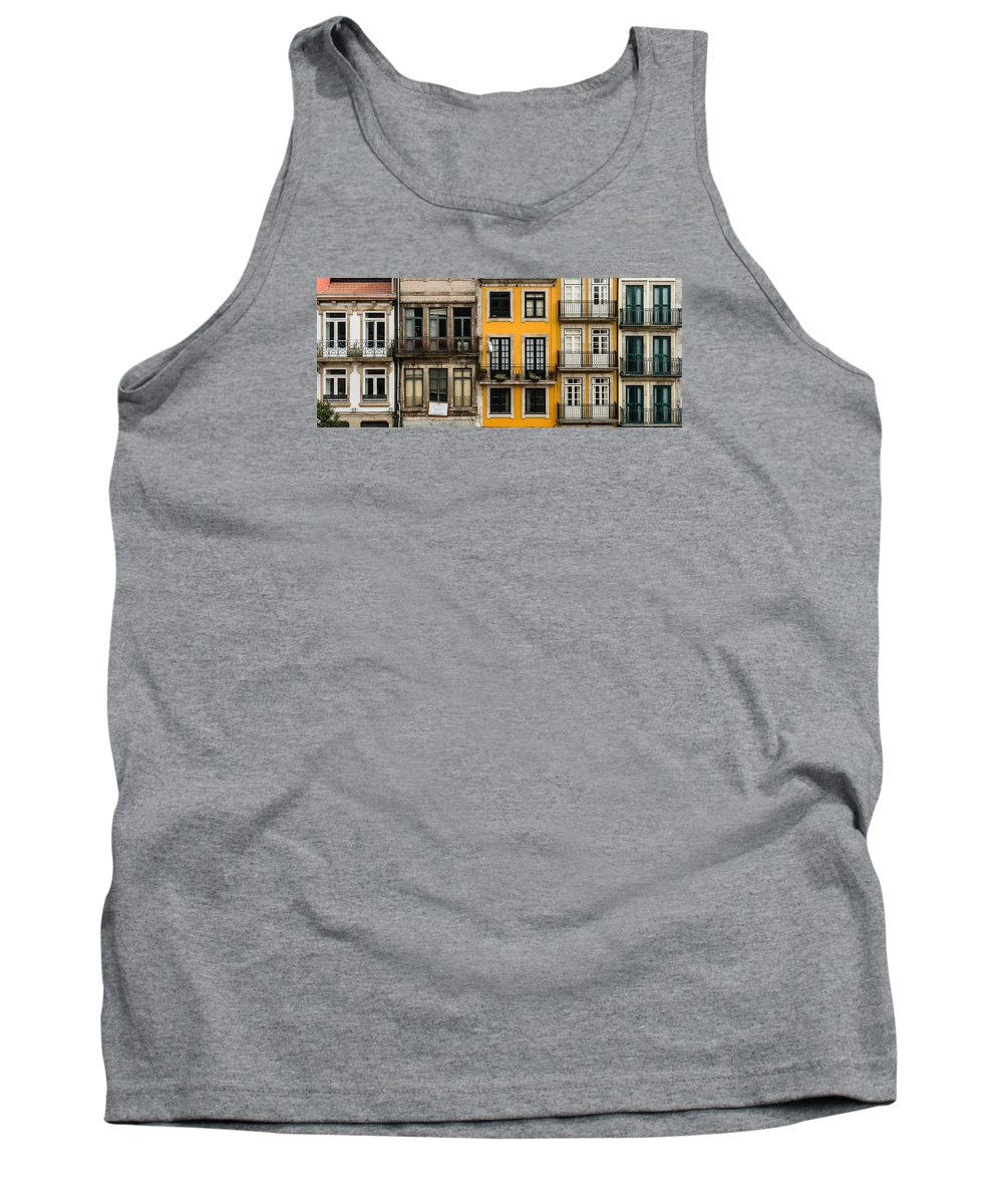 Porto Tank Top featuring the photograph Facades Of Porto by Jan Komsta