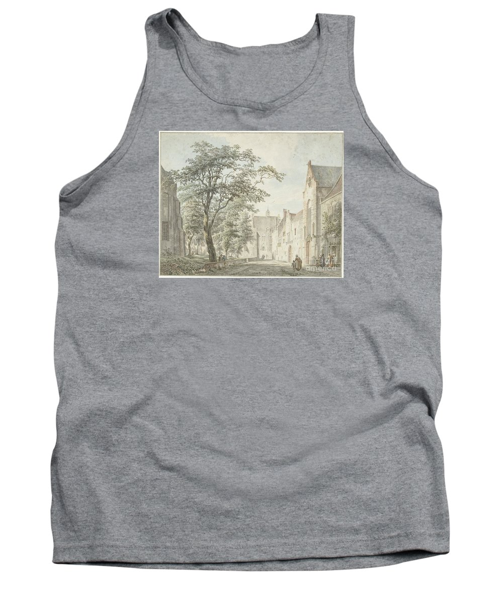 Face In The City Montfoort Tank Top featuring the painting Face In The City Montfoort by Celestial Images