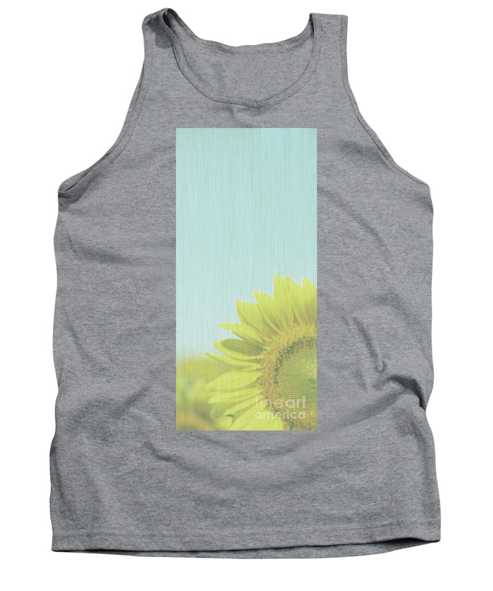 Sunflowers Tank Top featuring the photograph Faded by Amanda Barcon