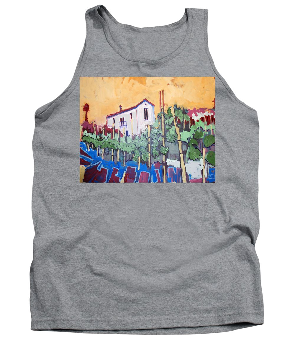 Farm House Tank Top featuring the painting Farm House by Kurt Hausmann