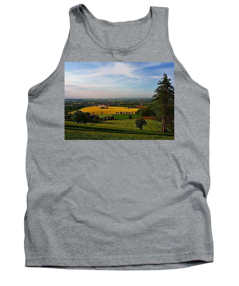 Farmland Tank Top featuring the photograph Farmland View by Dawn Van Doorn