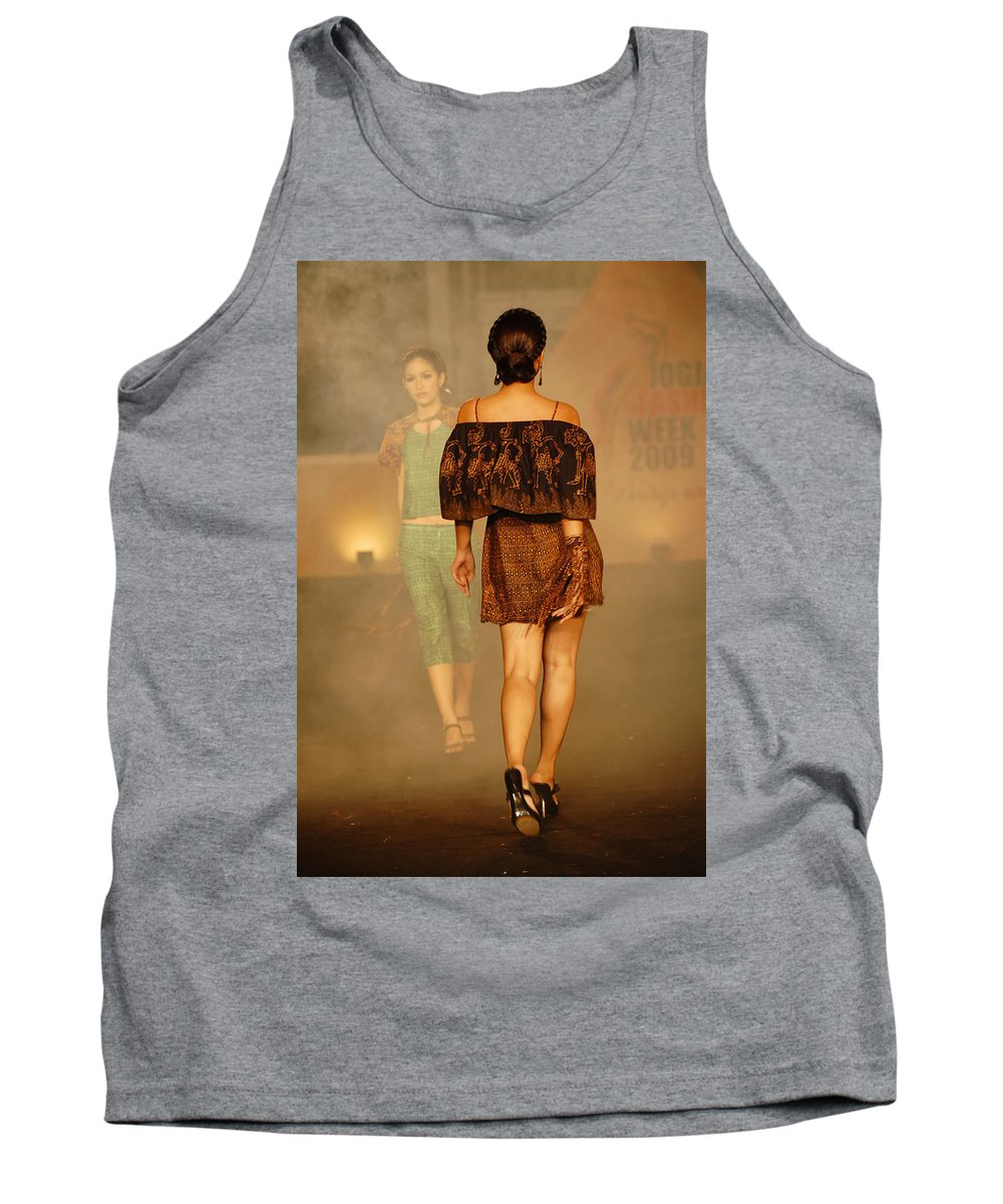 Fashion Tank Top featuring the photograph Fashion Catwalk by Charuhas Images